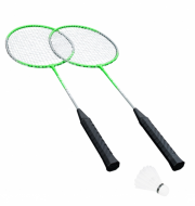 Набор для бадминтона Hudora Badmintonset Fly High HD-11 76414 зеленый