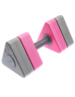 Аквагантели Dumbells Triangle Bar Float 30,5х10,5 см Grey-Pink MAD WAVE M0826 01 0 00
