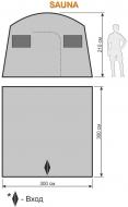 походная баня, сауна.  150D POLYESTER OXFORD PU FR 1,500MM швы проварены.
